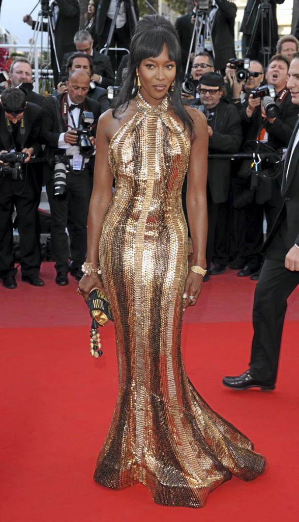 Festival de Cannes 2010 : la robe Roberto Cavalli de Naomi Campbell