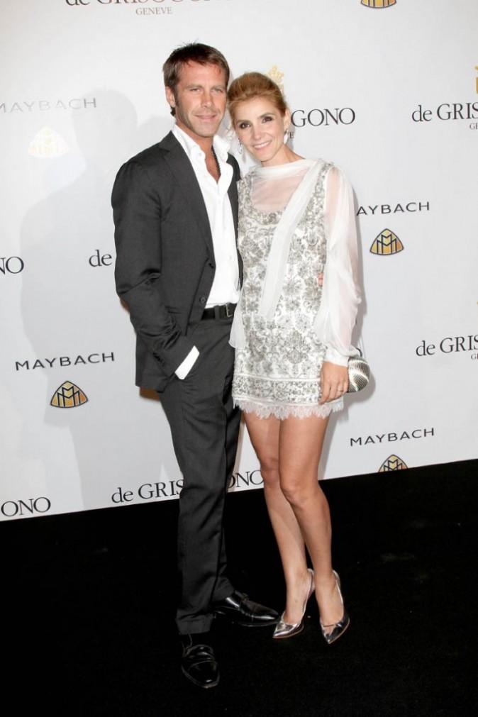 Clotilde Courau et son mari le prince Emmanuel-Philibert de Savoie lors de la soirée De Grisogono à Cannes, le 17 mai 2011.
