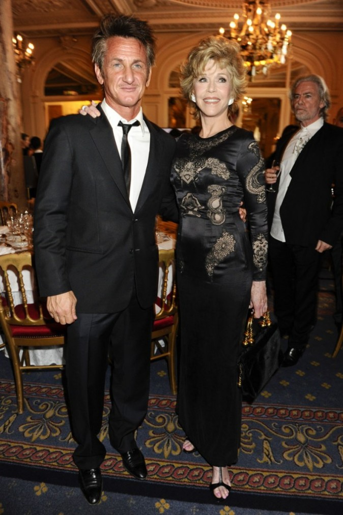 Sean Penn pose avec Jane Fonda