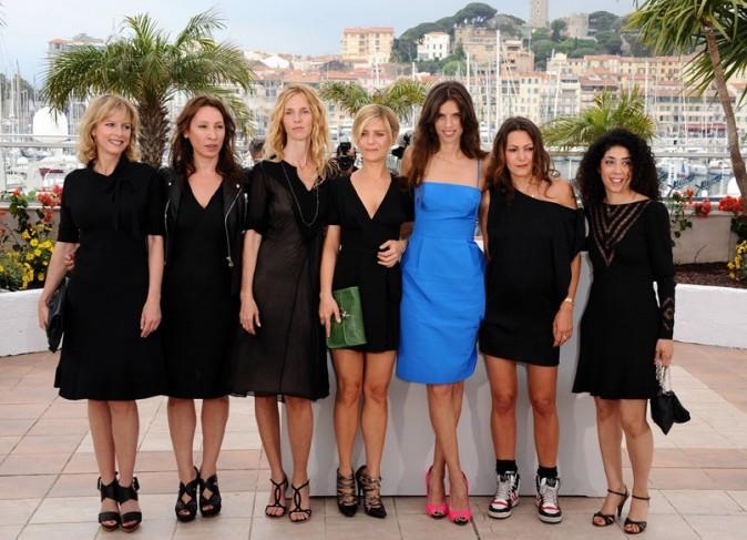 Avec toutes les actrices du film ...
