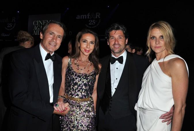 Jean-Jacques Lebel, Isabelle Lebel, Patrick Dempsey et son épouse