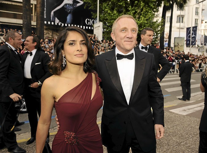 Cannes 2010 : le couple de stars franco-mexicano-libanais Salma Hayek et François-Henri Pinault