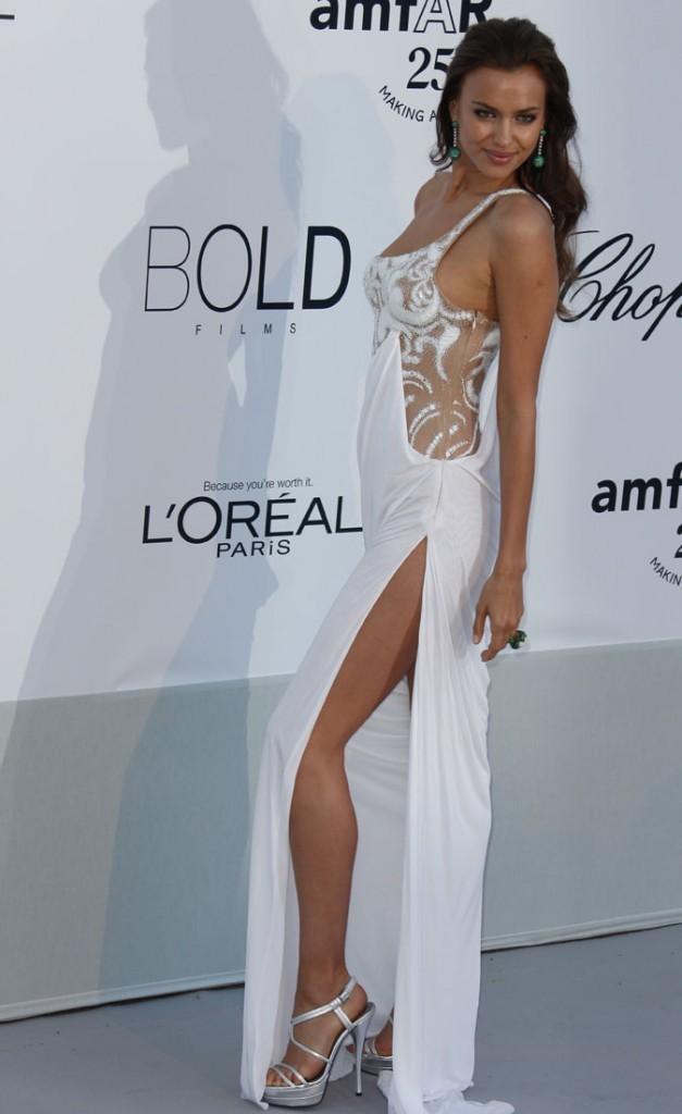 Cannes 2011 : Gala de l'AmfAR : Irina Shayk, Mme Cristiano Ronaldo