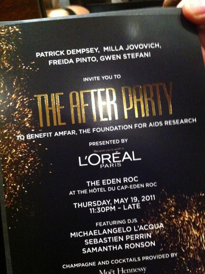 Photos : Cannes 2011 : le joli carton d'invitation de la soirée Amfar