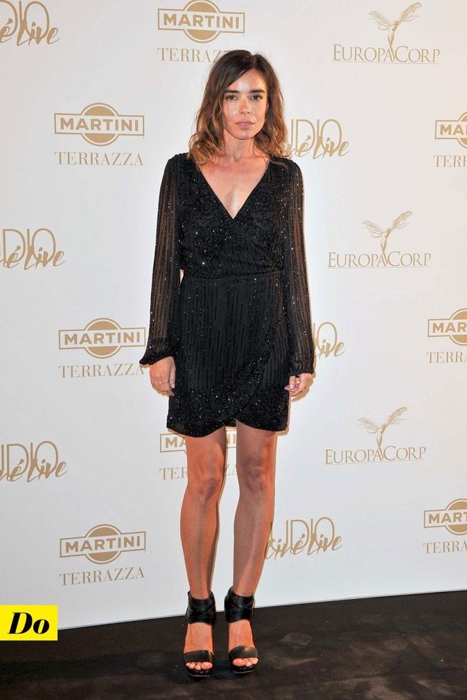 Festival de Cannes 2011 : la robe noire manches longues d'Elodie Bouchez