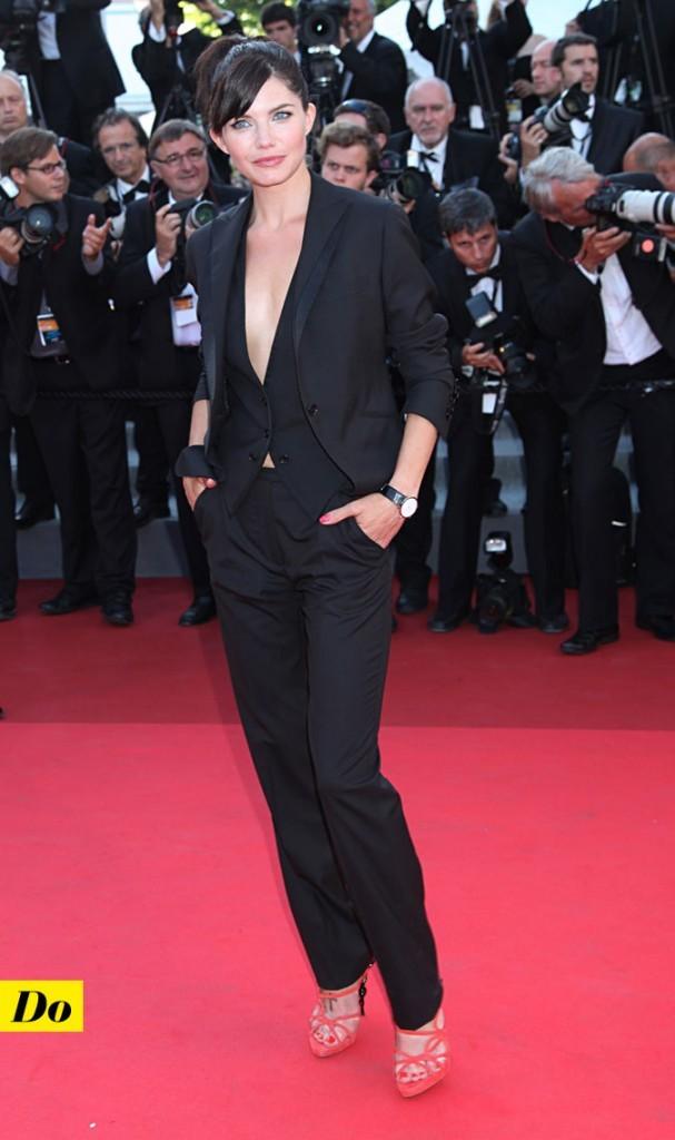 Festival de Cannes 2011 : le costume pantalon noir de Delphine Chanéac