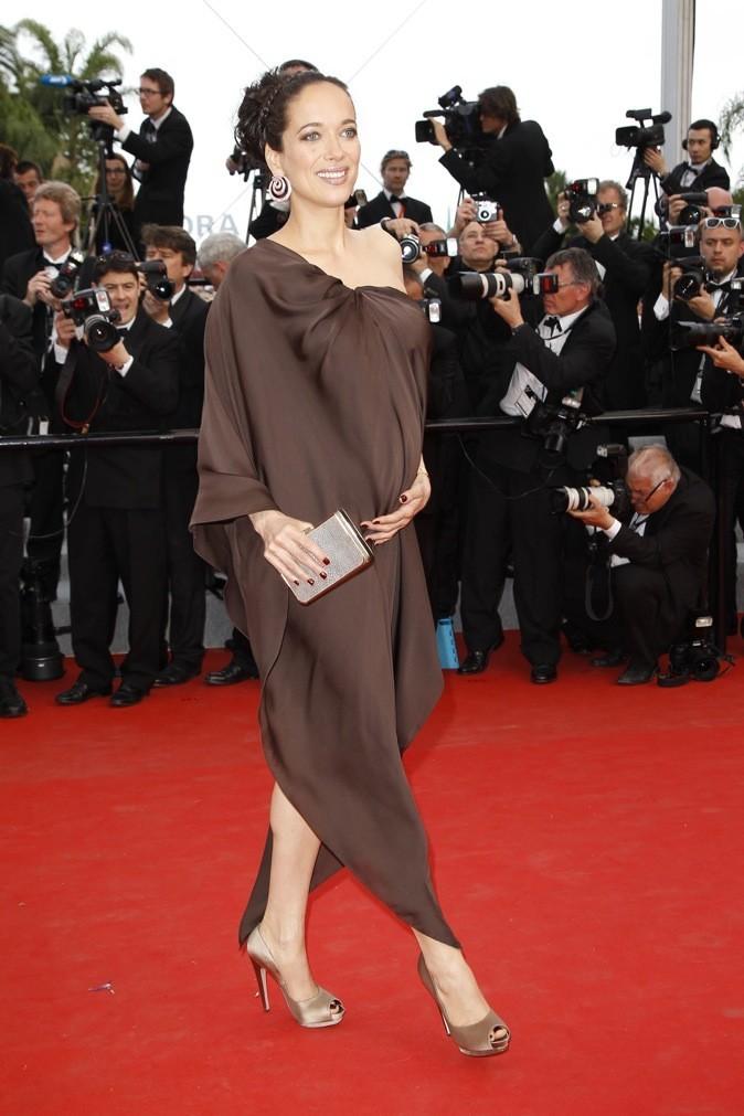 Carmen Chaplin coiffée et maquillée par Jacques Dessange (jeudi 17 mai 2012)