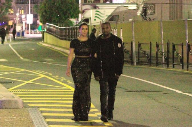 Balade nocturne pour Kim et Kanye !