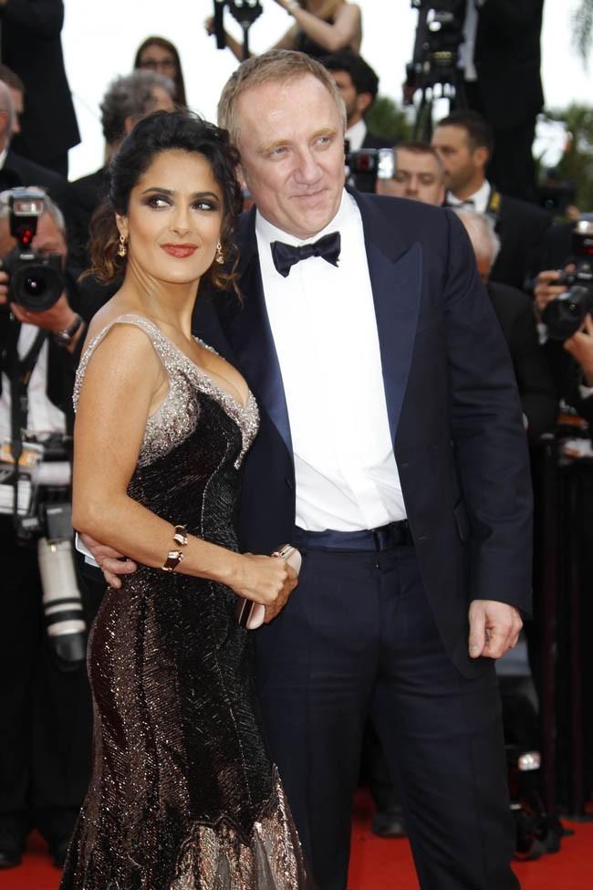 Salma Hayek et François-Henri Pinault le 18 mai 2012 au Festival de Cannes
