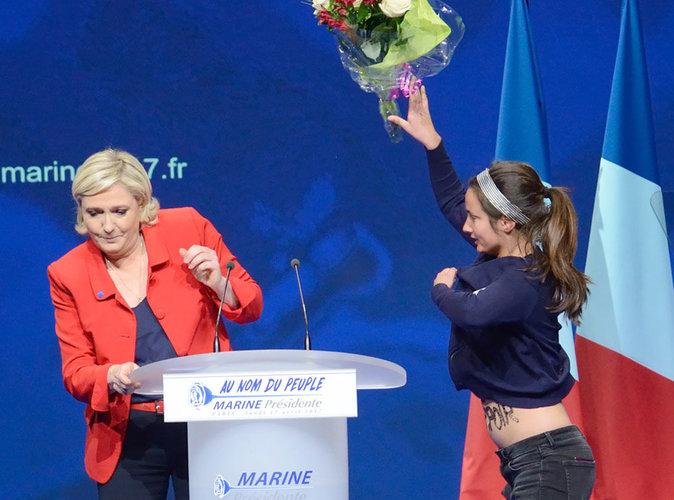 Présidentielle 2017 : Marine Le Pen agressée lors de son meeting parisien
