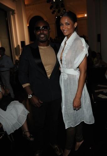 Jimmy Jean-Louis et Ciara au défilé Jean-Paul Gaultier printemps été 2012