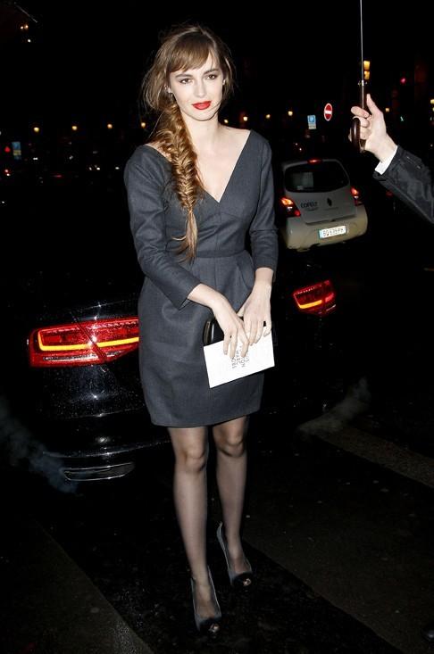 Louise Bourgoin à la soirée Louis Vuitton