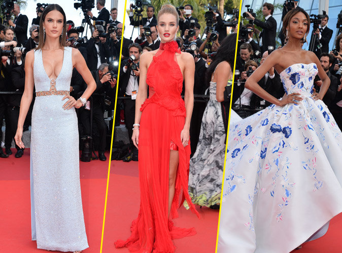 Cannes 2016 : Alessandra Ambrosio, Rosie Huntington-Whitely et Jourdan Dunn : bombesques sur les marches du Festival de Cannes !