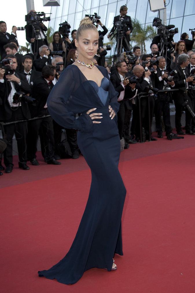 Jasmine Sanders en robe Ulyana Sergeenko - Cannes, le 22 mai 2017