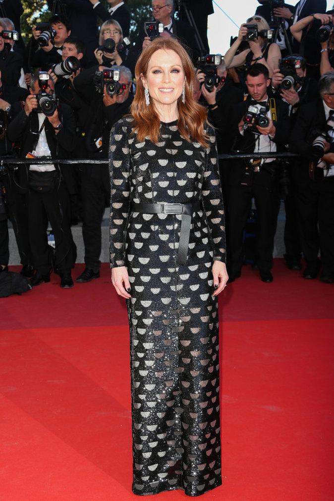 Julianne Moore en Louis Vuitton, Cannes le 19 mai