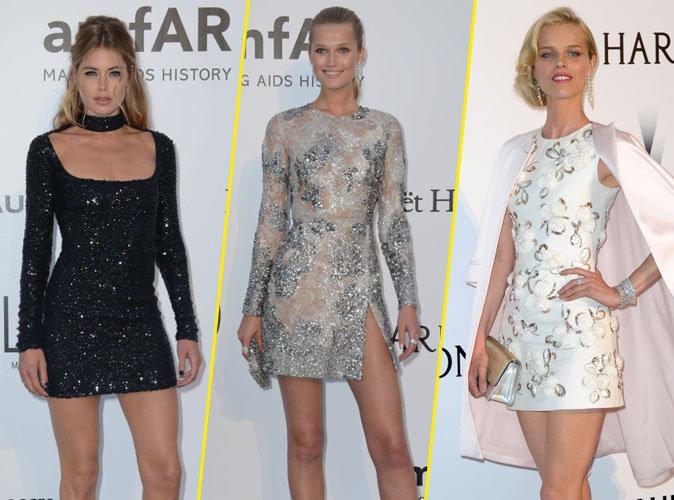 Cannes 2016 : Doutzen Kroes, Toni Garrn, Eva Herzigova... haut les jambes à l'amfAR !
