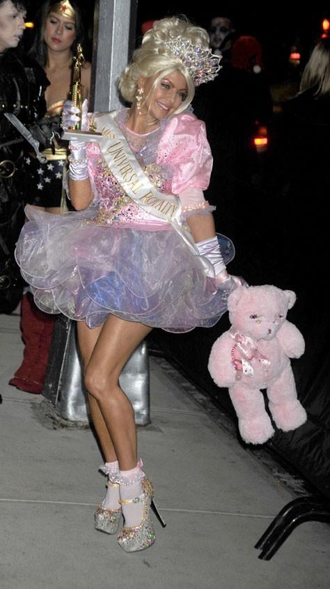 Fergie à la soirée Halloween d'Heidi Klum !