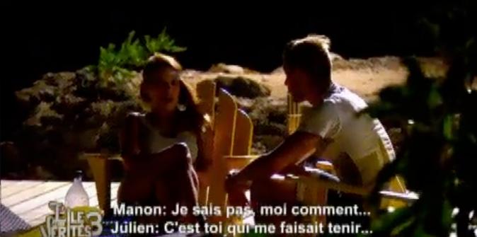 Julien annonce à Manon qu'il quitte l'aventure