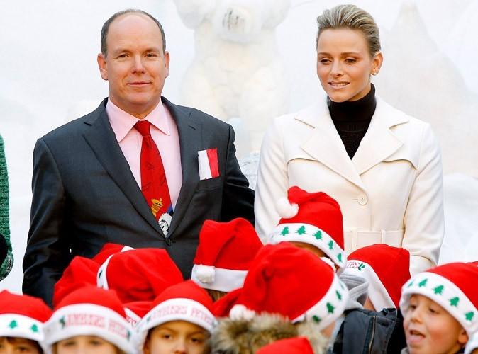 Albert et Charlene fêtent Noël avec les enfants de Monaco, 2010