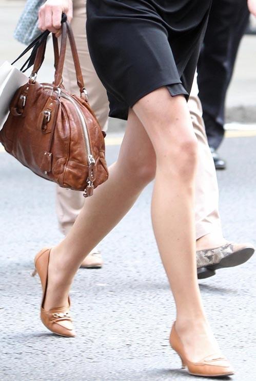 Des jambes toniques qui ont l'habitude de courir partout !