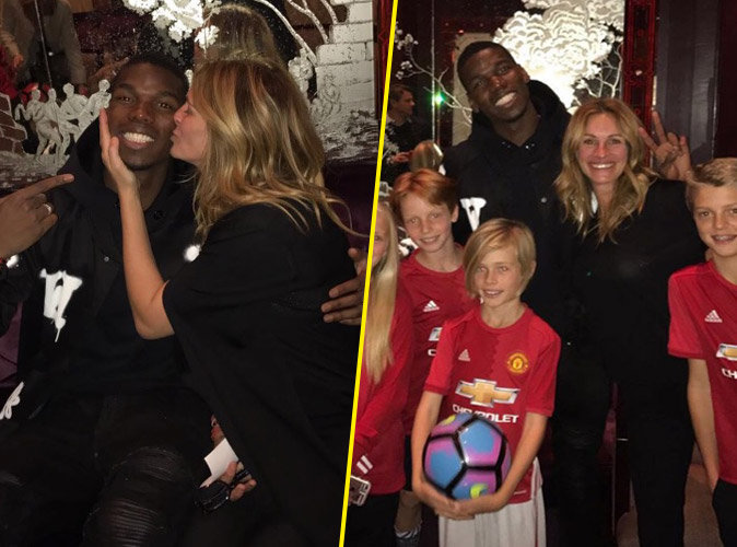 Paul Pogba : Son étonnant baiser avec... Julia Roberts !