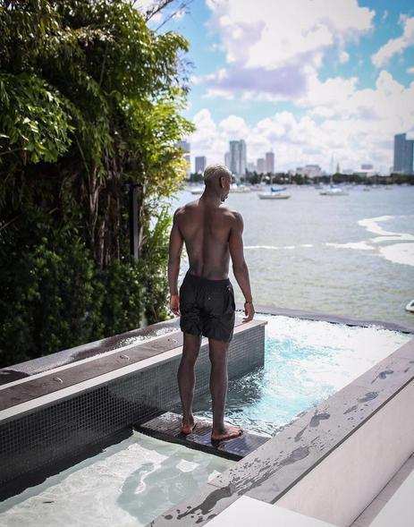 Paul Pogba à Miami le 18 juillet 2016