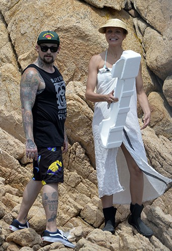 Benji Madden et Cameron Diaz en Sardaigne le 24 juillet 2014