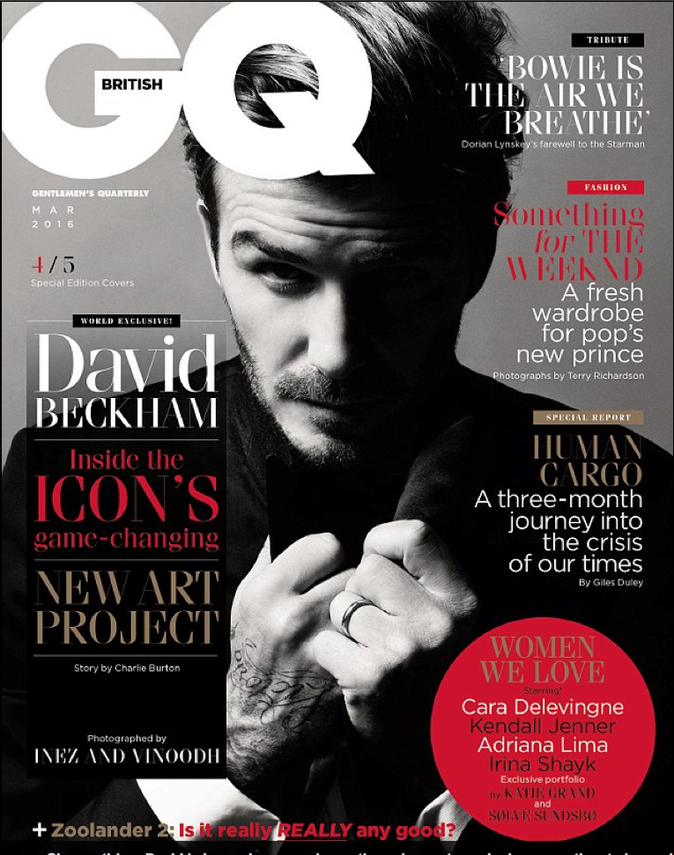 David Beckam dans GQ Magazine