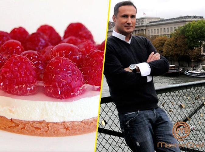 La tarte sablée à la rose, crème mascarpone litchi et framboises de Cyril Rouquet