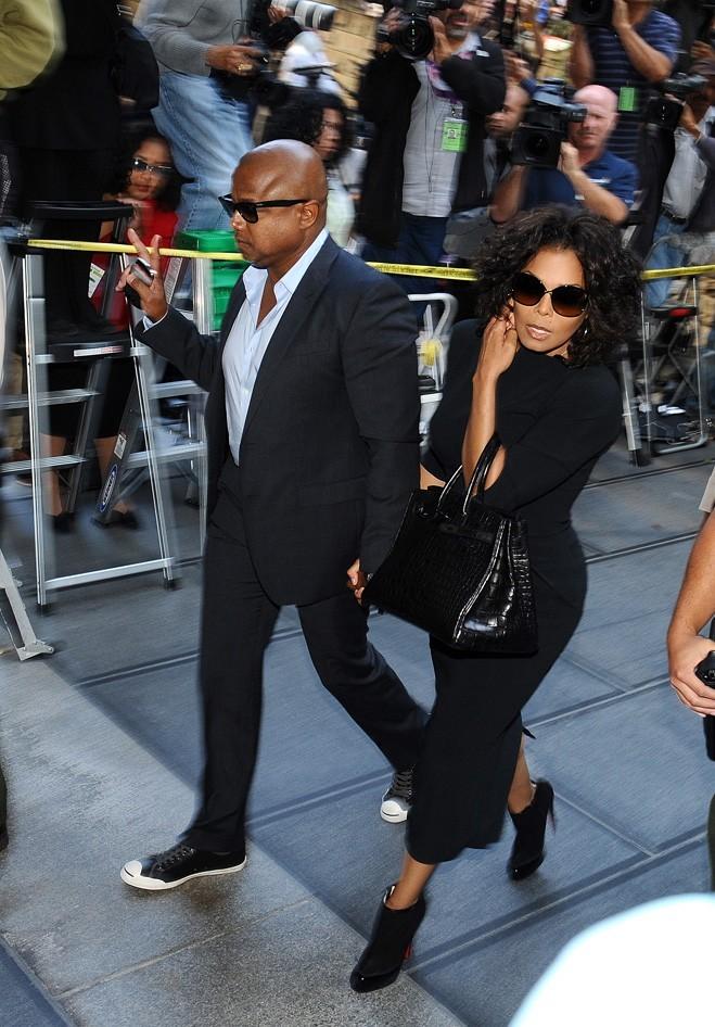 Janet Jackson arrive au tribunal de Los Angeles