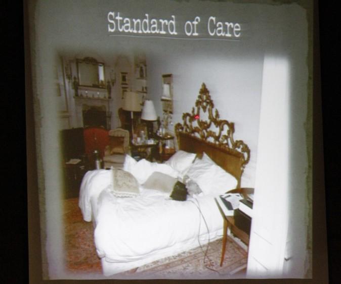La chambre et le lit où Michael Jackson s'est éteint le 25 juin 2009
