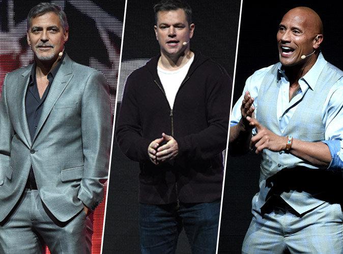 George Clooney, Matt Damon, Dwayne Johnson... une pluie de stars au CinemaCon à Las Vegas
