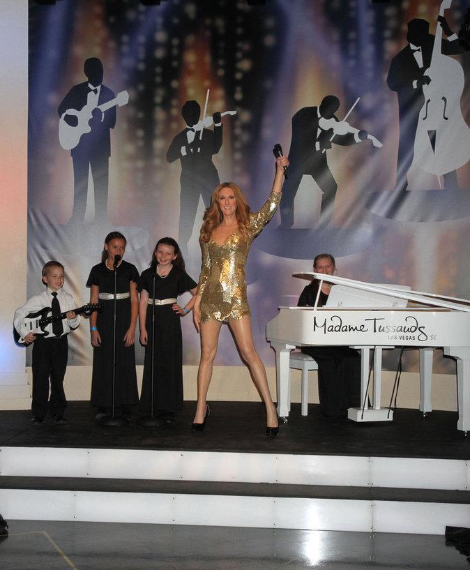 Le musée Madame Tussauds révèle la statue de cire de Céline Dion à Las Vegas, février 2012