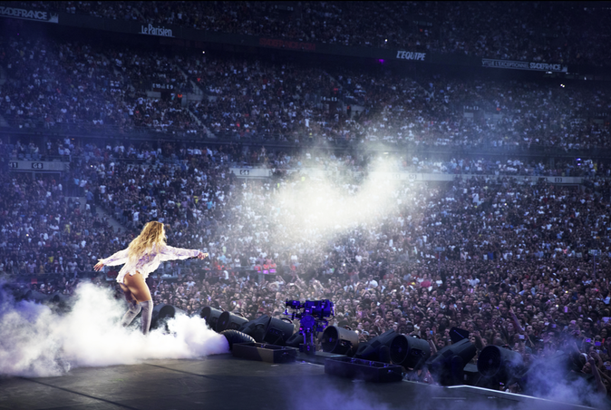 Beyonce single lady stade de france