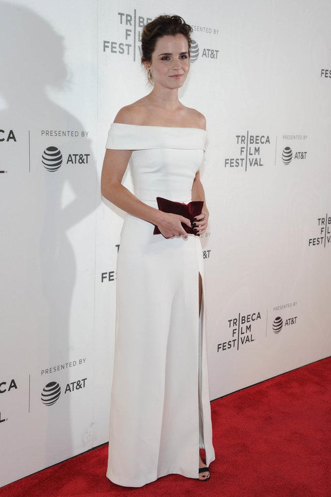 Emma Watson au Festival du film de Tribeca à New-York le mercredi 26 avril pour assister à la première de The Circle