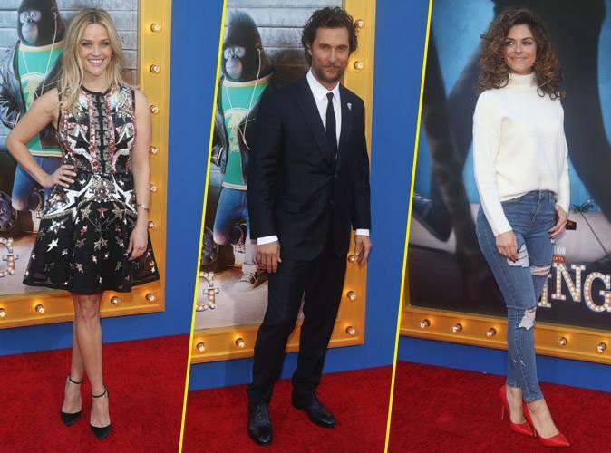 Reese Witherspoon, Matthew McConaughey, Maria Menounos... de nombreuses stars présentent à la première mondiale de Sing