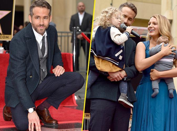Ryan Reynolds : Sa première apparition avec Blake Lively et ses deux filles pour l'inauguration de son étoile