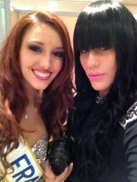 Avec Delphine Wespiser, Miss France 2012