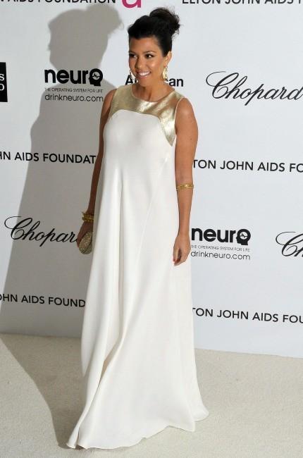 Kourtney Kardashian lors de l'Oscar Party d'Elton John à Hollywood, le 26 février 2012.