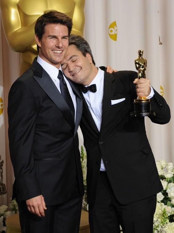Tom Cruise a remis l'Oscar du Meilleur Film au producteur Thomas Langmann pour The Artist !