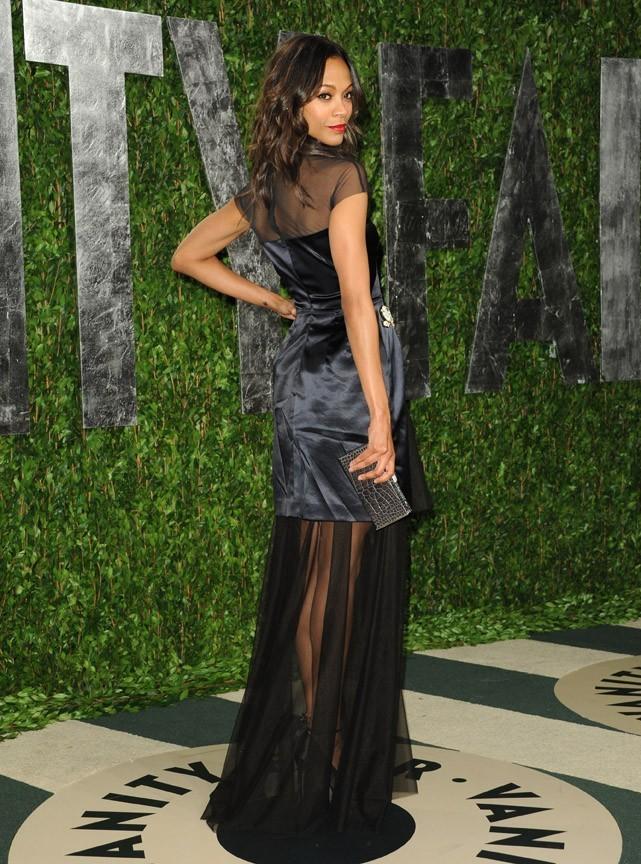 Zoe Saldana fait la belle à la soirée Vanity Fair