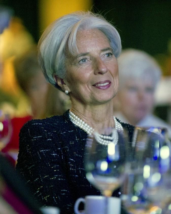 Christine Lagarde a osé le rouge à lèvres mais apparemment il a été vite effacé !