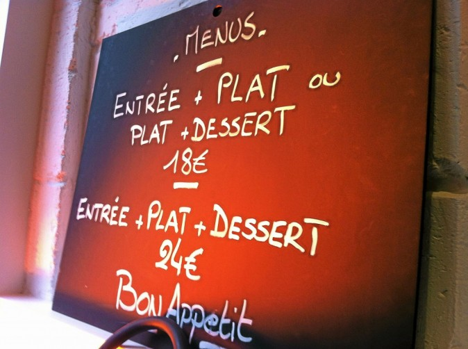 Menu entrée + plat + dessert à 24€, c'est abordable !
