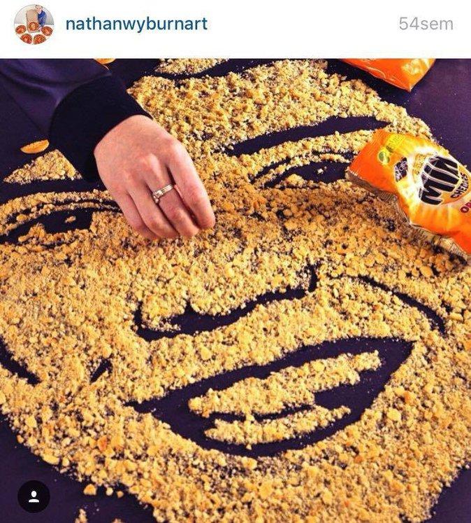 Public Buzz : Photos : Bieber, Beyoncé, Il dessine des portraits de stars… avec de la nourriture !