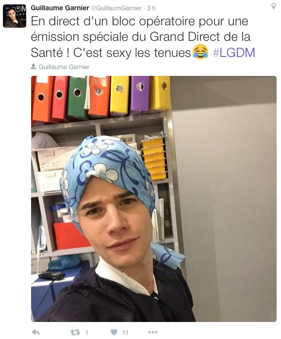 Guillaume Garnier, programmateur de l'émission en direct du bloc opératoire