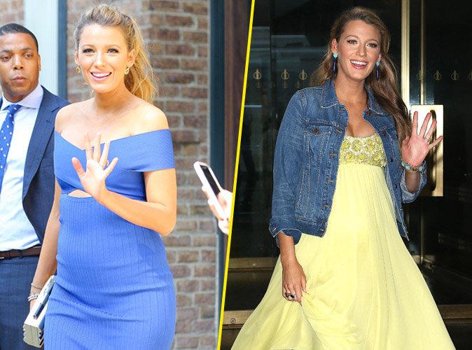Photos : Blake Lively : Radieuse, elle dévoile son micro baby-bump pendant son marathon fashion !