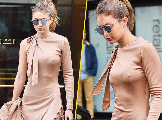 8- Gigi Hadid : look nude, tétons apparents, elle enflamme New York !
