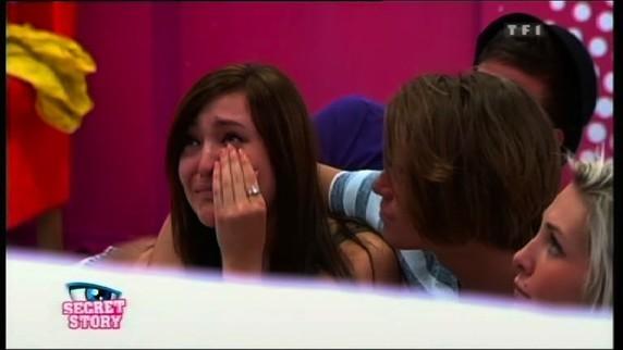 Des larmes, elle en a aussi versées !