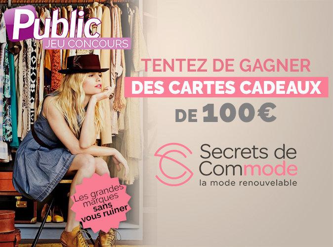 Jeu concours : Tentez de gagner des chèques cadeaux d'une valeur de 100 € avec Secrets de Commode !