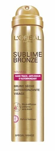 Brume sèche autobronzante visage, Sublime Bronze, L'Oréal Paris 10 €